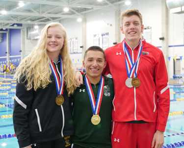 Swim medalists from state meet